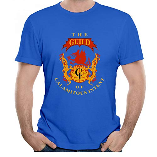 Dragon Design Creativity Graphic Mens T-Shirt Crewneck Tees Blue XXL