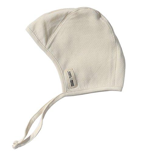 Sweet Layette Newborn Bonnet Cap - Baby Pilot Hat - 100% Certified Organic Cotton (3-6 Months, Beige)