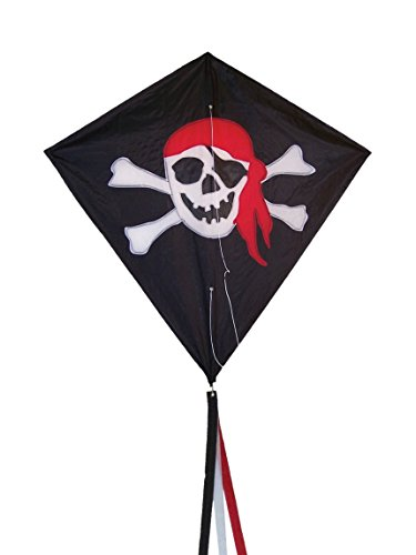Pirate Kite - In the Breeze I'm a Jolly Roger Diamond Kite, 30-Inch