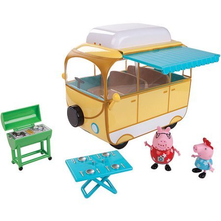 Peppa Pig Family Campervan Play Set with 2 - Van Mall Hours