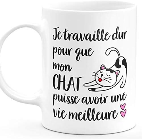 Drôle de cadeau pour chat amoureux-FU King Awesome Chat Mum Mug Anniversaire Animaux De Noël
