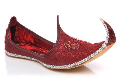 Unze Gs49 - Zapatos de piel de estilo indio con bordado y punta hacia arriba para hombre: Amazon.es: Zapatos y complementos