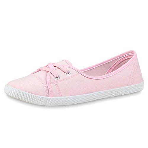 napoli-fashion - Bailarinas Mujer rosa blanco