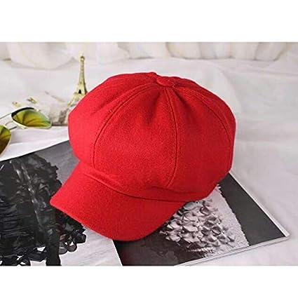 Sombrero de Boina de Lana para Hombre y Mujer Gorras Planas ...