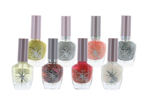 CoverGirl 8 Piece Set Boundless Color nail Polish Sparkle Top Coat Set