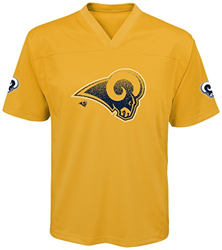 NFL Los Angeles Rams Youth Boys Color Rush Fashion Top, Large (14-16), University Gold