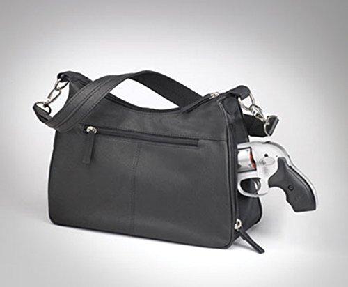 Leather Handbag Basic Carry Mamas Hobo Purse Gun Tote'n Black Concealed nqZAxnHf