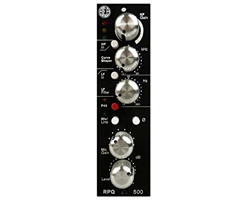 AEA RPQ500 1-channel 500 Series Preamp Module with High-frequency and Low-frequency Filters, 80dB of Gain, and Mic/Line-level Input Switching -
