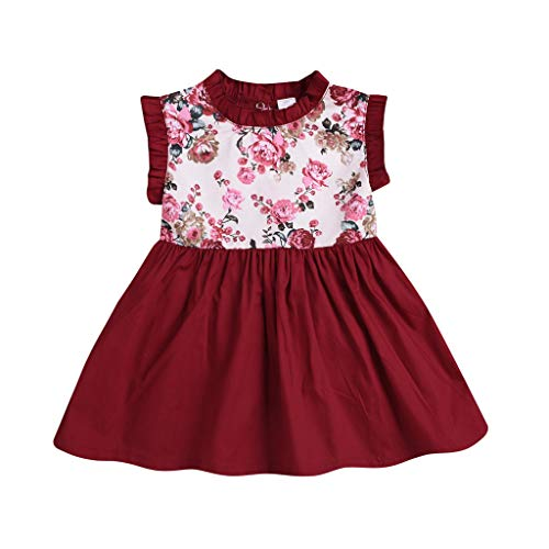 Cathy Clara Toddlers Infant Baby Kids Sleeveless Floral Dress Sister Matching ()