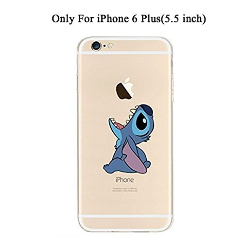 iPhone 6 Plus Case, iPhone 6S Plus Case, DOMIRE Funny Cartoon Character TPU Clear Cases Thicken Anti-Slip Protective Case for iPhone 6 Plus 5.5 inch