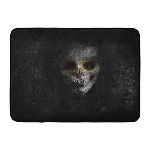 Emvency Doormats Bath Rugs Outdoor/Indoor Door Mat Demon Scary Horror Spooky Monster Skull Halloween Creepy Ghost Retro Bathroom Decor Rug 16