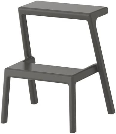 Ikea Bekvam Trittleiter Aus Holz Schwarz Amazon De Kuche Haushalt