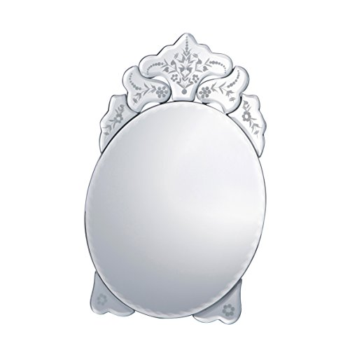 CVHOMEDECO. Excellent Makeup Mirror Stand Classic Cosmetic Mirror Bathroom Vanity, Engraving Inside, 12'' X 8'' by CVHOMEDECO.