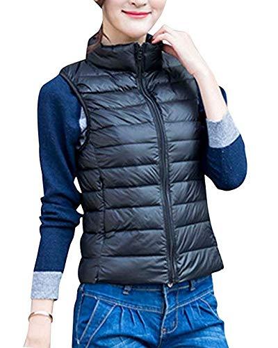 S Swny Manche Sans Doudoune Manteau Chaud Courte Gilet Slim Section Ultra 3xl Femme Légère 1q17wTxB