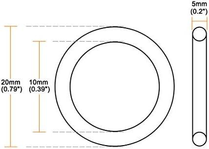 sourcing map Juntas t/óricas Caucho de nitrilo 38,6 mm x 50 mm x 5,7 mm Anillos de sellado Junta de sellado 10 piezas
