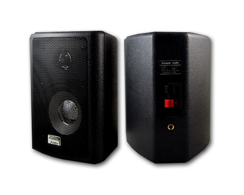 Acoustic Audio 151B Indoor Outdoor 2 Way Speakers 600 Watt Black Pair