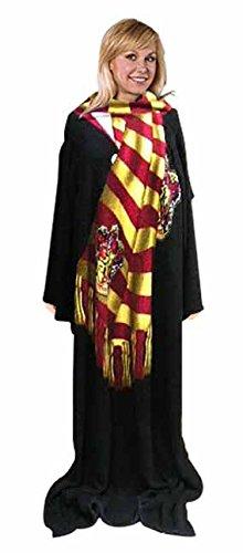 Harry Potter Designer Rare (Winter Look) Micro Raschel Comfy Throw Blanket with Sleeves