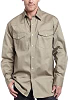Carhartt Men's Big & Tall Ironwood Twill Work Shirt Snap Front Relaxed Fit S209