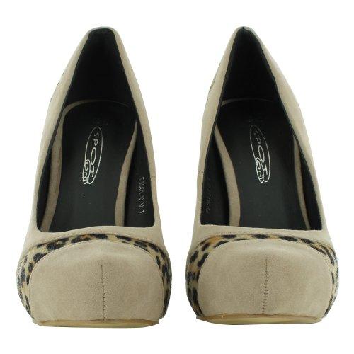 Footwear Sensation - Sandalias de vestir para mujer Blanco - Nude Suede