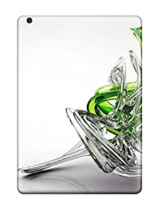 For ZippyDoritEduard Ipad Protective Case, High Quality For Ipad Air 3d White And Green Glass Skin Case Cover