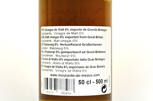 Moutarde de Meaux Malt vinegar 6% 50cl Case of 6 Units - Wholesale by Moutarde de Meaux (Image #3)
