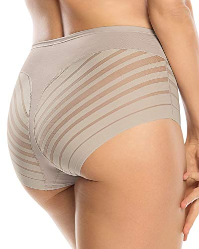 Leonisa Women's No Show Invisible Comfy Tummy Control Classic Panty,Nude,X-Large,X-Large,Nude
