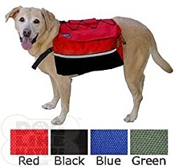 Quick-Release Dog Backpack - Large Red