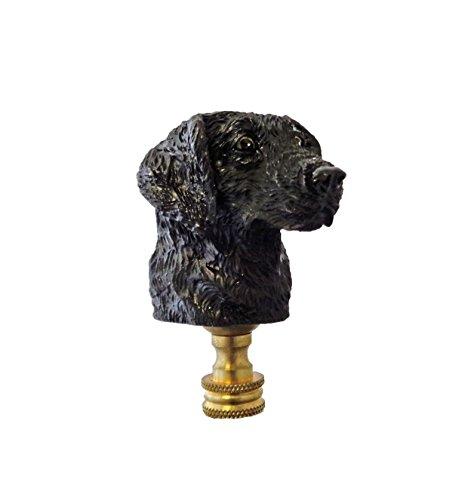 Lamp Finial - Black Lab Dog Head - Labrador Retreiver - Resin material (Finial Head)