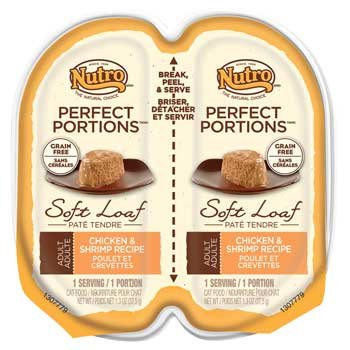 NUTRO PERFECT PORTIONS Adult Cat Soft Loaf Chicken and Shrimp Recipe Cat (Chicken Shrimp)