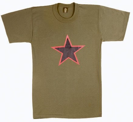 (Rothco China Red Star T-Shirt, Olive Drab, Medium)