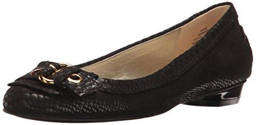 Anne Klein Women's Mady Fabric Loafer Flat, Black, 7.5 M US