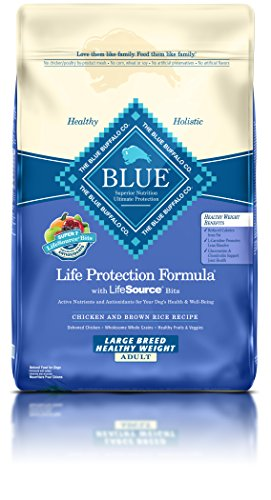 BLUE Life Protection Formula Adult Large Breed Healthy Weight Chicken and Brown Rice  Dry Dog Food 30-lb