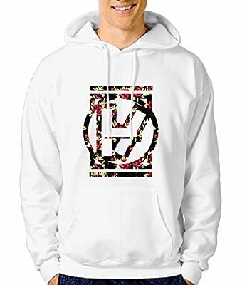 Twenty one pilots 1b floral logo S WHITE Hoodie