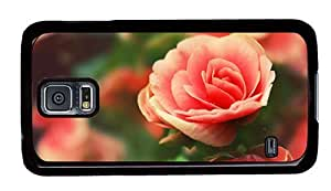 Hipster for sale Samsung Galaxy S5 Case roses pink PC Black for Samsung S5