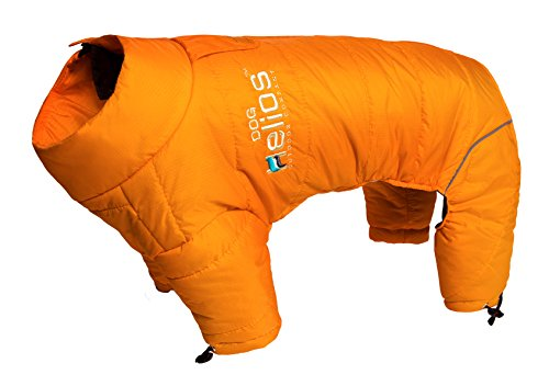 DogHelios Thunder-crackle Full-Body Waded-Plush Adjustable and 3M Reflective Dog Jacket, Sporty Orange, MD by DogHelios