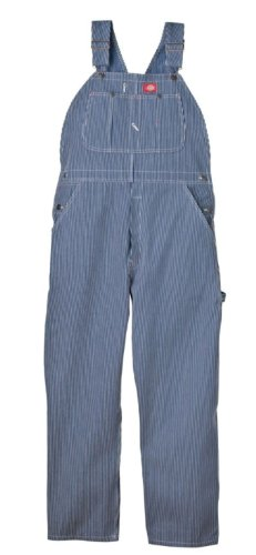 Black White Pencil Pinstripe - Dickies Men's Bib Overall, Hickory Stripe, 36X30