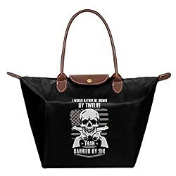 GUNS AND SKULL Shoulder Handbag Tote Bag
