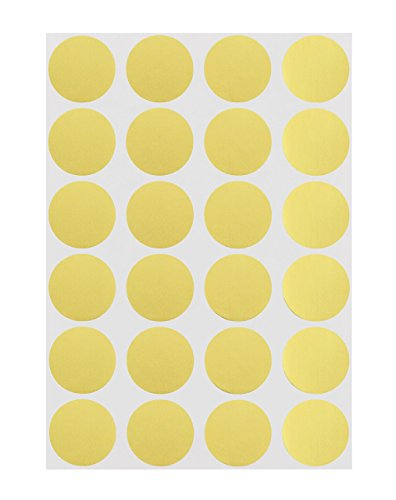ChromaLabel 3/4 inch Color-Code Dot Labels on Sheets | 1,008/Pack (Metallic Gold) (Foil Dots)