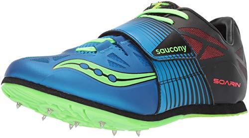 (Saucony Men's Soaring J2 Track Shoe Blue/Slime 10.5)