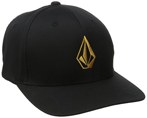 volcom-mens-full-stone-xfit-hat-dull-gold-large-x-large