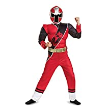 Disguise Costumes Ranger Ninja Steel Muscle Costume, Red, Medium (7-8)