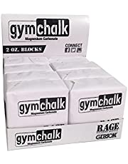 Gibson Athletic Premium Block Gym Chalk, 1Lb, Consists of (8) 2 oz Blocks, Magnesium Carbonate, Gymnastics, Weightlifting, Rock Climbing White