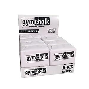 RAGE Fitness – PREMIUM Block Gym Chalk, 1lb, Consists of (8) 2 oz Blocks, Magnesium Carbonate, Gymnastics, CrossFit, Weightlifting, Rock Climbing