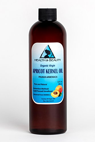 Apricot Kernel Oil Unrefined Organic Virgin Cold Pressed Raw Pure 12 oz