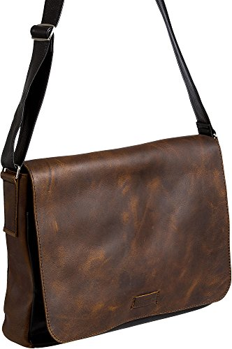 Malachi Distressed Argentine Leather Convertible Messenger Bag by Overland Sheepskin Co