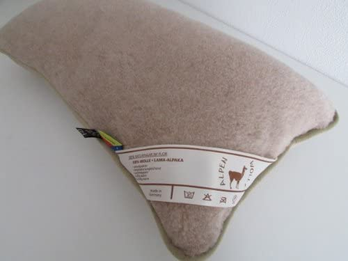 Funda de almohada de lana de alpaca 20% + 80% lana de oveja merina, plástico, transparente, 40 x 80 cm