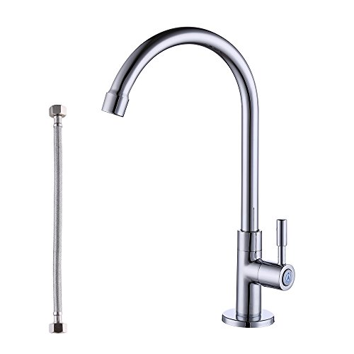 (KES Lead-Free Cold Water Faucet for Kitchen Sink Replacement Brass Chrome, K8001A1LF)