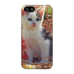 New A Kitten In A Basket Tpu Case Cover, Anti-scratch Superface Phone Case For Iphone 5/5s
