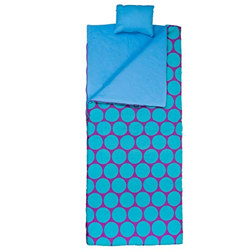 Wildkin Sleeping Bag, Big Dot Aqua]()