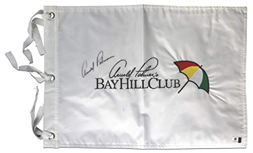 3cfb9f2d Arnold Palmer Signed Autographed Bay Hill Club Golf Pin Flag COA